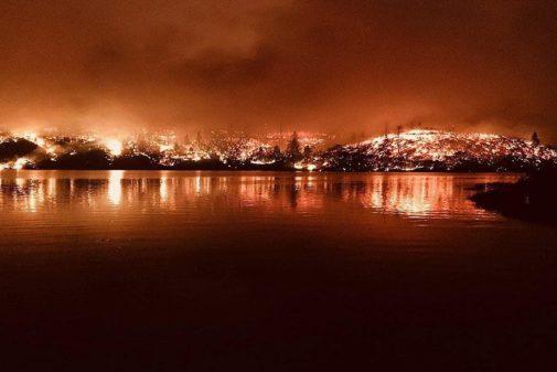 El incendio en California provocó miles de evacuaciones.