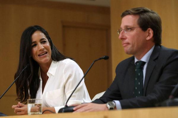 Villacís y Almeida, este lunes, tras la primera Junta de Gobierno.