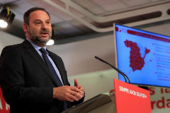 José Luis Ábalos, secretario de Organización del PSOE, en rueda de prensa.