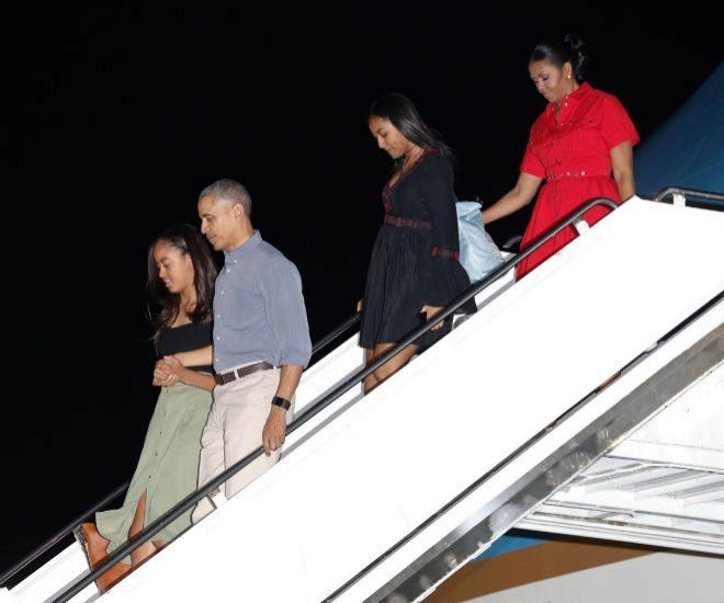 La familia Obama en una imagen de archivo