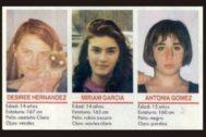 Desirée, Miriam y Toñi, las niñas del crimen de Alcàsser