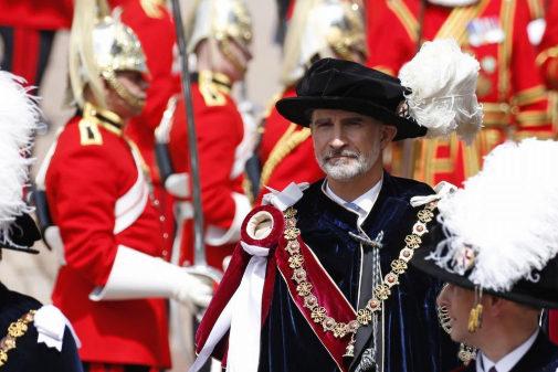 El Rey Felipe VI, en Londres, tras ser investido caballero de la Orden de la Jarretera
