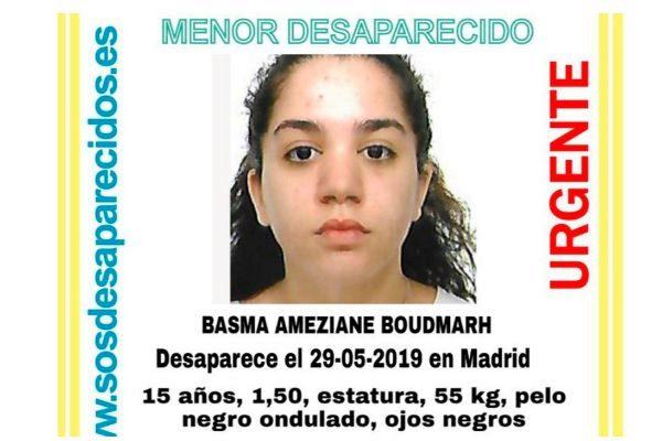 Buscan a una menor de 15 años desaparecida en Madrid desde hace 19 días