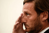 Francesco Totti, en su despedida de la Roma.