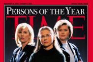 Portada de la revista 'Time' que nombra personajes del año a las delatoras de fraudes contables Cynthia Cooper de Worldcom, Coleen Rowley del FBI, y Sherron Watkins, de Enron.