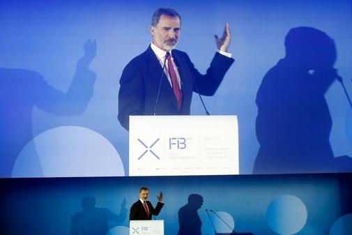 Felipe VI, en la inauguración del Foro Iberoamericano en noviembre de 2018