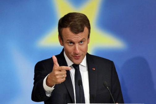 Emmanuel Macron, durante su discurso europeo en La Sorbona.