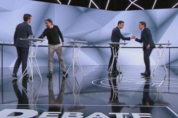 Los cuatro principales candidatos a presidentes del Gobierno, en el...
