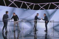 Los cuatro principales candidatos a presidentes del Gobierno, en el debate de Atresmedia.