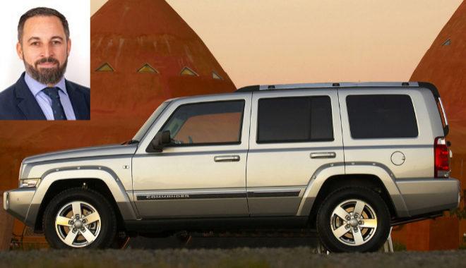SAntiago Abascal, presidente de VOX, delcara poseer un Jeep Comander de 2015.