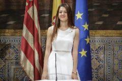 Carolina Pascual, este lunes, en la toma de posesión del nou Consell