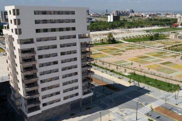 Figuración de uno de los edificio bioclimáticos que se está construyendo en Valencia.