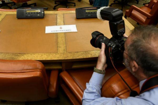 Asiento vacío que debía ocupar Carles Puigdemont el lunes en el Congreso