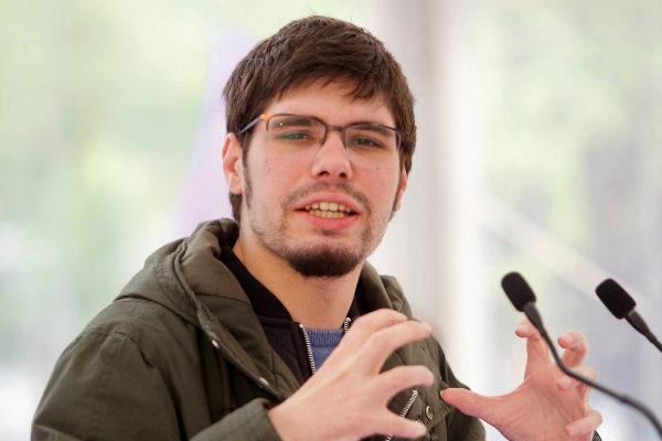 El portavoz parlamentario de Elkarrekin Podemos, Lander Martínez.