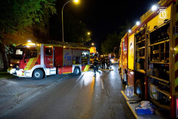 Los bomberos, en una intervención en Madrid.