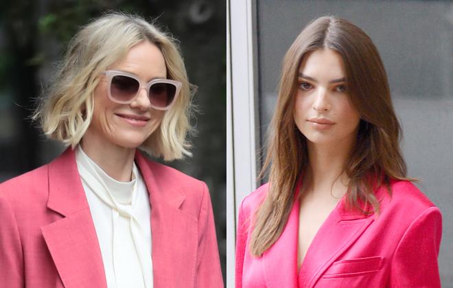 Manual de uso del traje rosa, según Naomi Watts y Emily Ratajkowski