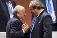 Platini y Blatter, en una imagen de mayo de 2015.