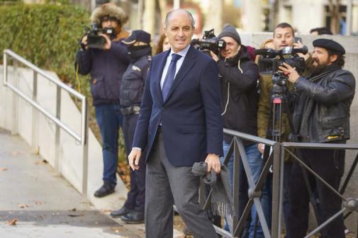 El ex presidente de la Generalitat valenciana, Francisco Camps, en una de sus visitas a la Audiencia Nacional.