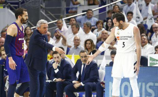 Pesic y Rudy discuten, durante el segundo partido de la final.