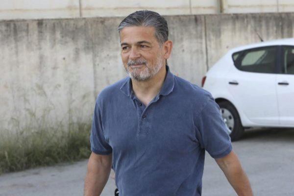 Antonio Moreno 03.05.2019 Barcelona Cataluña. <HIT>Oriol</HIT> <HIT>Pujol</HIT> sale de la prisión de Brians 1 de Barcelona.