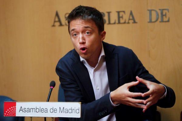 Íñigo Errejón, líder de Más Madrid, durante un acto en la Asamblea de Madrid.