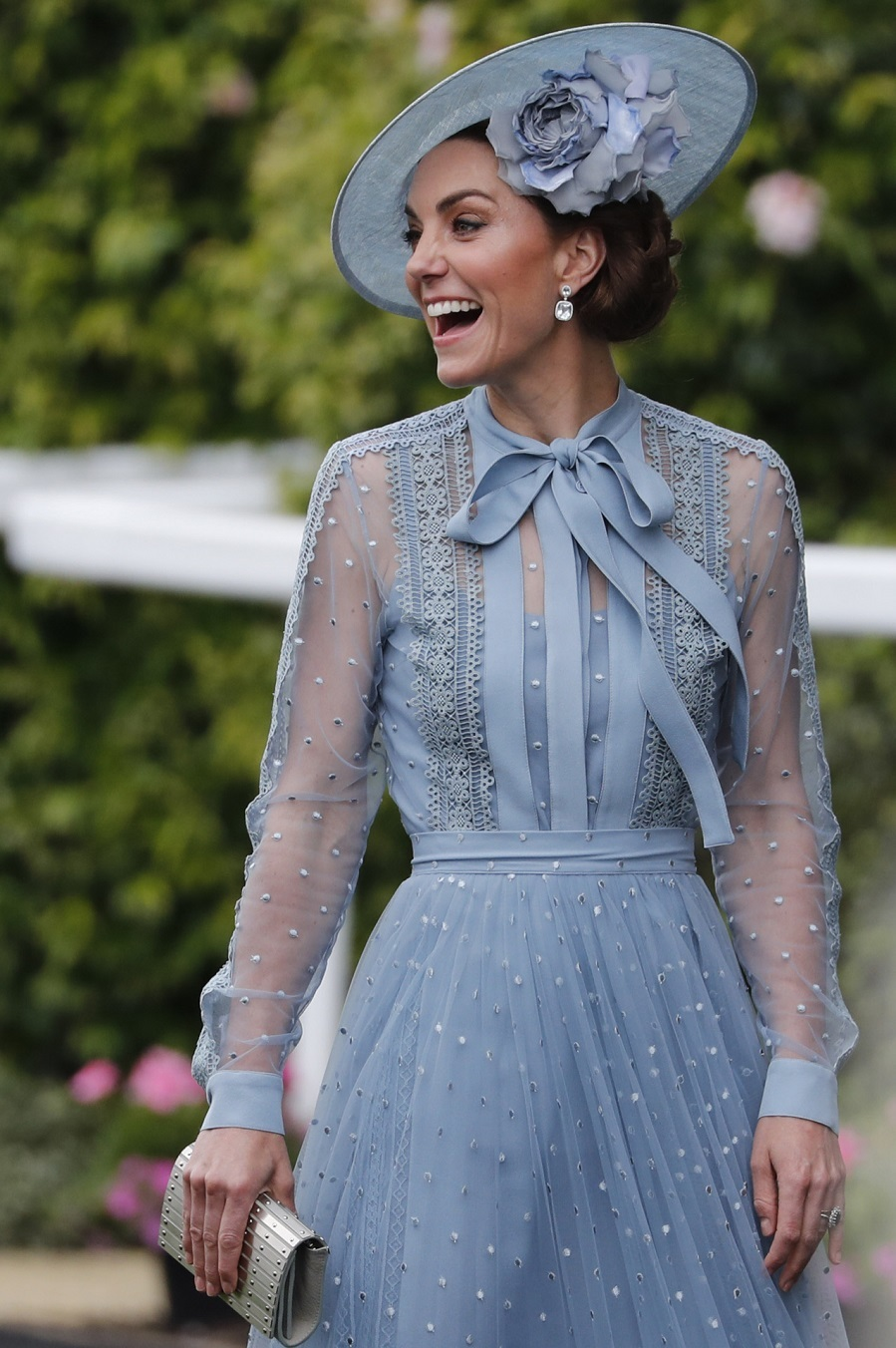 Ascot 2019 Kate Middleton Con Vestido Azul Cielo De Elie