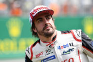 Fernando Alonso, tras la victoria en las 24 Horas de Le Mans.