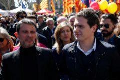 Manuel Valls y Albert Rivera, durante un acto público en Barcelona.