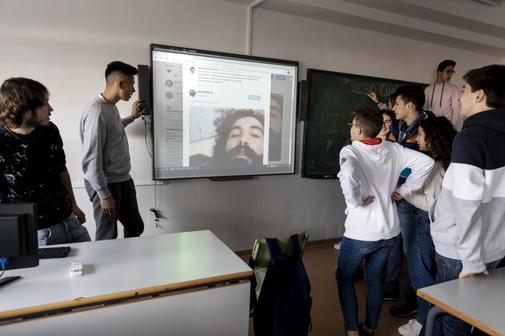 Alumnos de la ESO de un instituto de Badajoz.