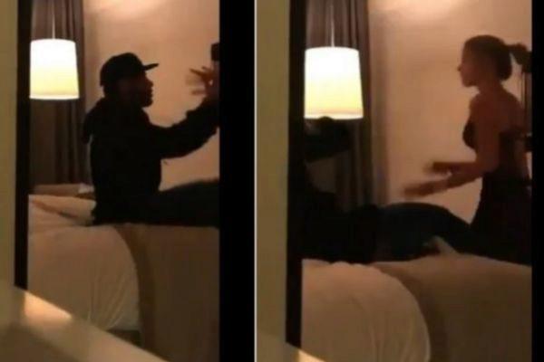Imagen del vídeo de la pelea entre Neymar y la modelo