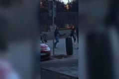 Imágenes de la pelea a machetazos en un parque de Lavapiés.