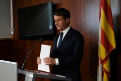 Manuel Valls en ruesa de prensa