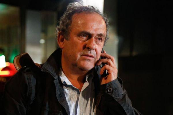 Platini, al quedar en libertad, este miércoles.