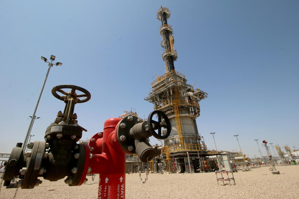 Petrolera de ExxonMobil en Basora (Irak).