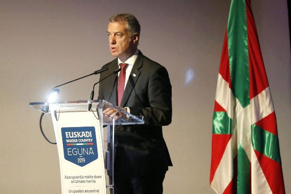 Iñigo Urkullu en el 'Euskadi Basque Country Eguna'.