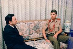 Luis María Anson y Felipe VI, durante la entrevista del ABC en el año 1986