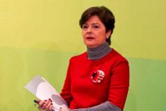 Belén Greaves en una comparecencia como representante del EBB del PNV.
