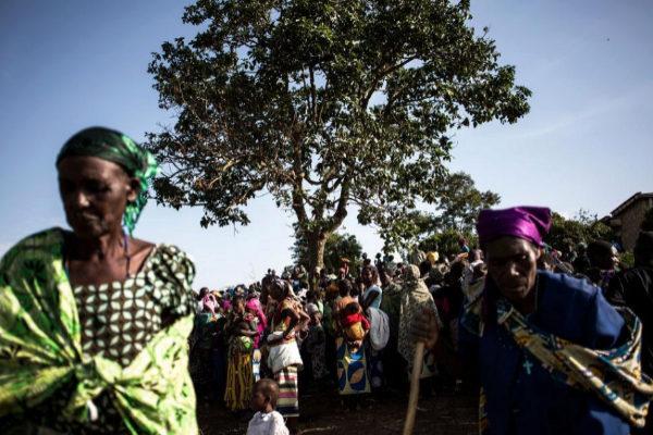 Mujeres congoleñas desplazadas, en un campamento en Bunia.