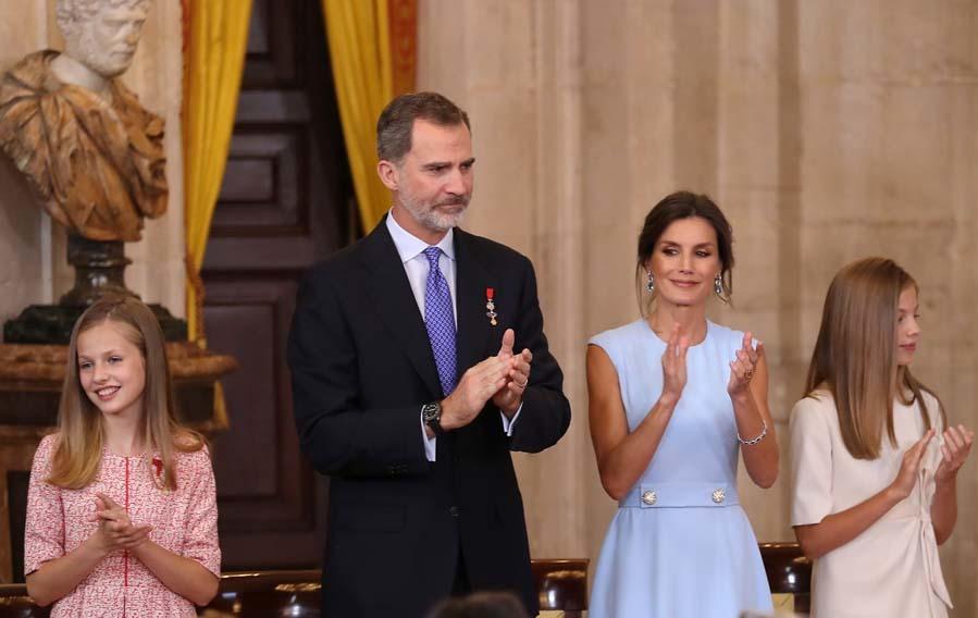 La princesa Leonor y la infanta Sofía han acaparado todas las miradas hoy, después de seis meses fuera de la agenda oficial de la Casa Real.