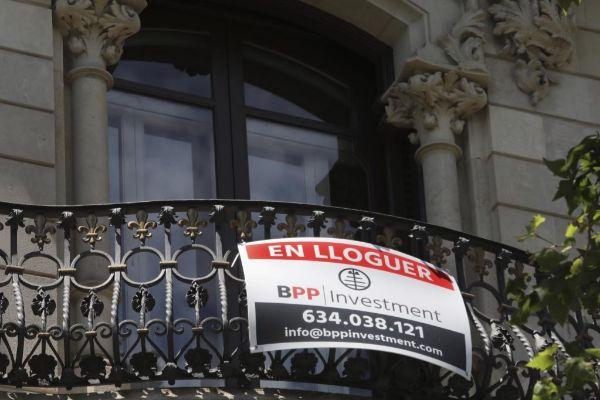 Vivienda en alquiler en el centro de Barcelona.