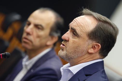 Javier Esparza, en rueda de prensa tras reunirse con Ábalos