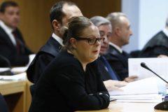 La auxiliar de enfermería del hospital de Alcalá, Beatriz L.D., este lunes, en el juicio en la Audiencia Provincial de Madrid. .