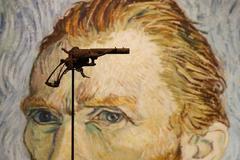 La supuesta arma que mató a Van Gogh en una exhibición.