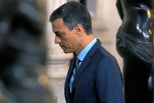 Pedro Sánchez, a su llegada al Palacio Real este miércoles