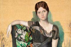 La obra 'Retrato de Olga en un sillón' de Pablo Picasso.