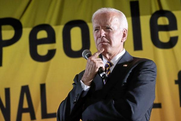 El candidato demócrata Joe Biden, durante un mitin de campaña en Washington.