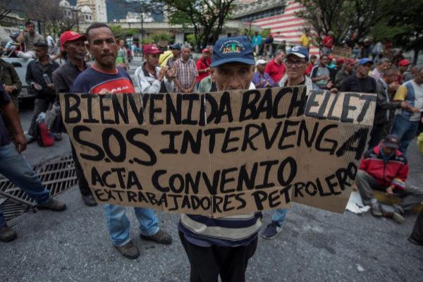 <HIT>CARACAS</HIT> (VENEZUELA) 18/06/2019.- Trabajadores petroleros se...