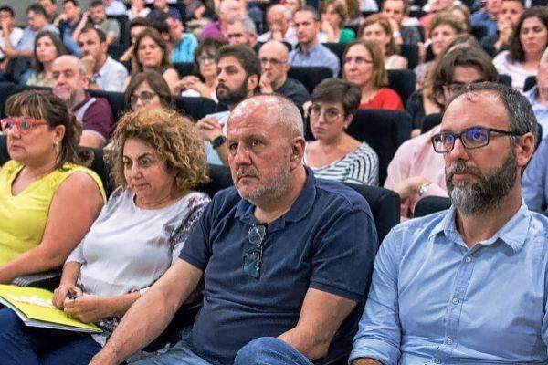 Los principales responsables de Més, el martes durante su asamblea general.