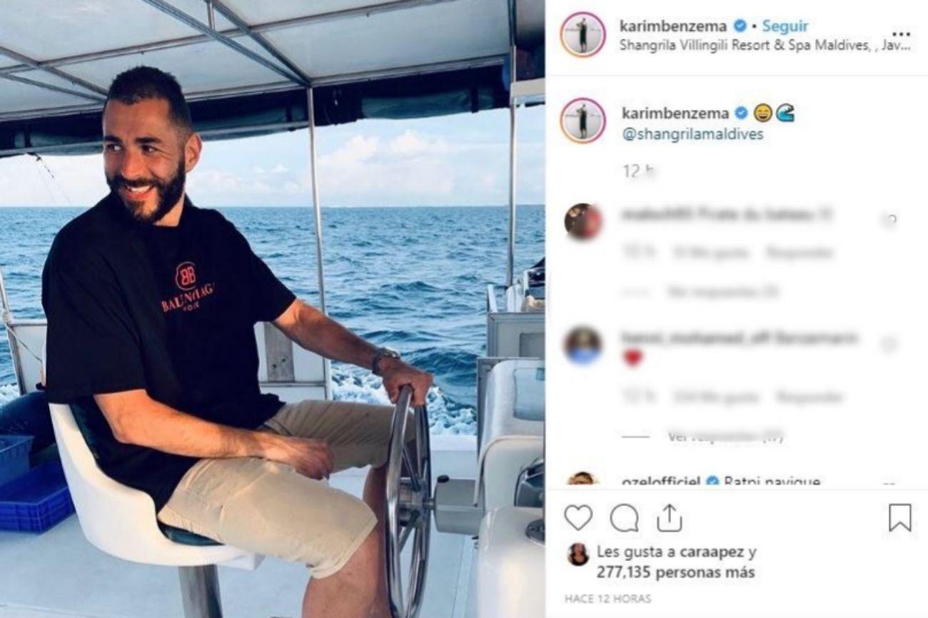 Benzema luce su exclusivo yate en las Maldivas
