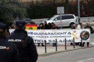 Protesta de Jusapol en favor de una equiparación salarial entre cuerpos policiales.
